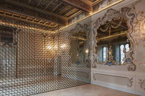 Ceiling, Architecture, Building, Room, Interior design, House, Metal,