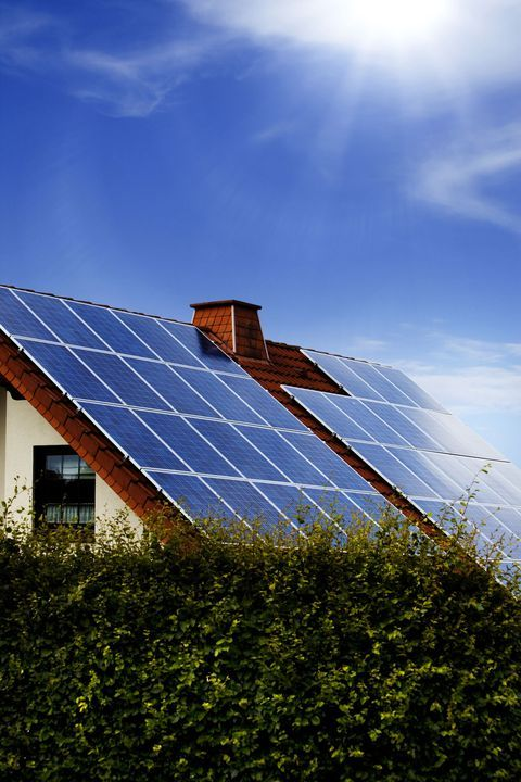 solar panel, eco home