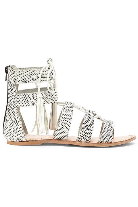 Footwear, Shoe, Sandal, Beige, Wedge,