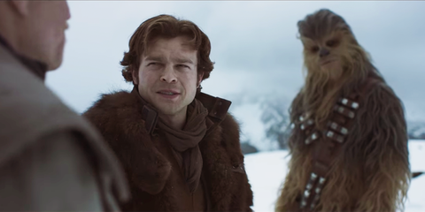 Chewbacca, Fur, Fictional character, Adaptation, Screenshot, Smile, Gesture,