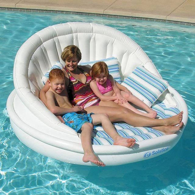 solstice aqua sofa inflatable pool float