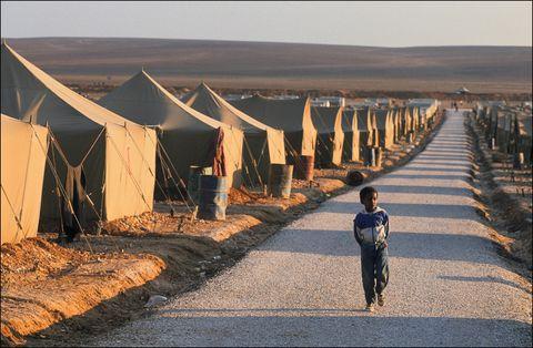 Somali Refugee Camp Near Amman On January 20Th,1991