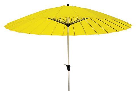 Muebles de exterior: Sombrilla de aluminio amarilla