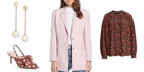 Clothing, Outerwear, Coat, Pink, Overcoat, Blazer, Jacket, Fashion, Sleeve, Trench coat,