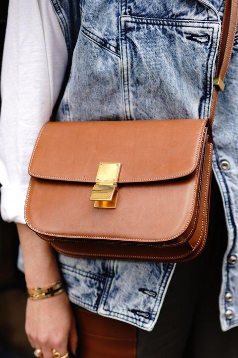 Denim, Street fashion, Leather, Clothing, Jeans, Tan, Bag, Brown, Yellow, Waist,