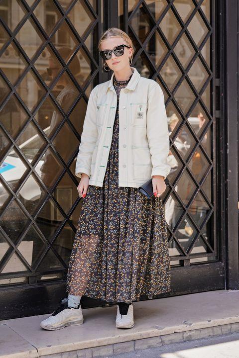 Clothing, Street fashion, White, Fashion, Snapshot, Outerwear, Fashion design, Design, Footwear, Pattern,