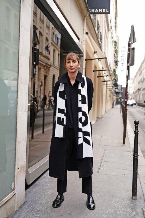 Clothing, Photograph, White, Street fashion, Fashion, Black-and-white, Snapshot, Coat, Outerwear, Overcoat,