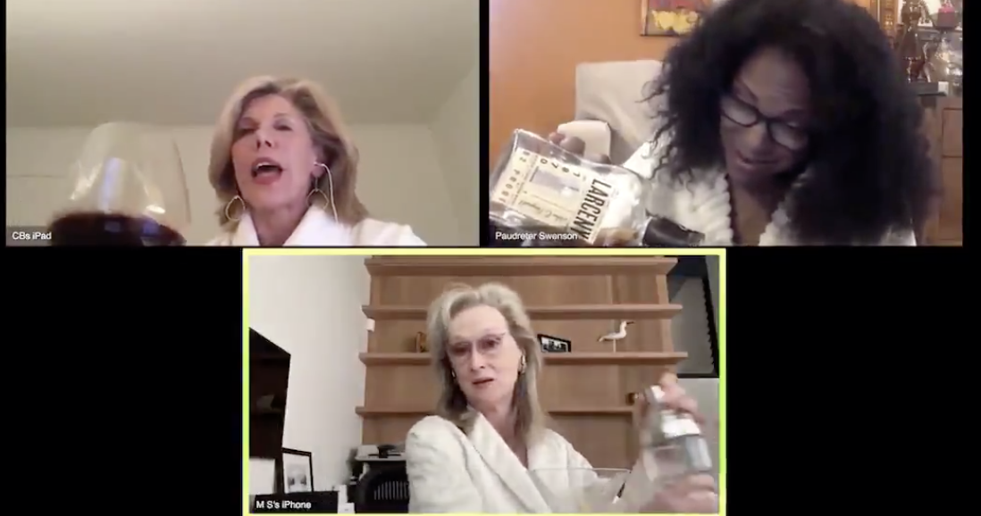 Meryl Streep, Christine Baranski, and Audra McDonald Drinking and Singing in Bathrobes Is Essential Viewing