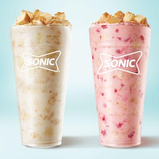 sonic drive in cheesecake and strawberry cheesecake blasts
