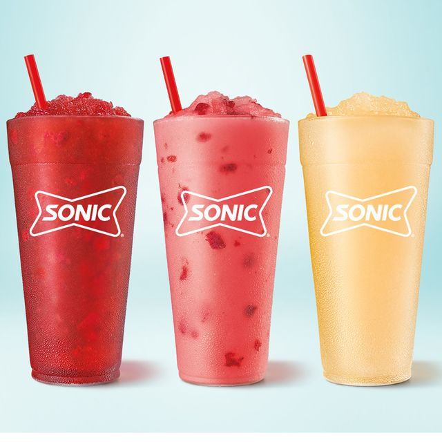 sonic drive in strawberry frose red berry sangria peach bellini uncorked slushes