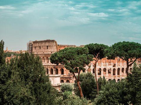 Landmark, Building, Town, Human settlement, Sky, Tree, Architecture, City, Urban area, Palace,