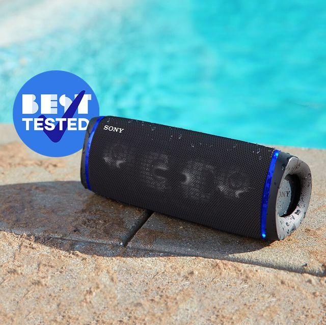 sony srs xb33 waterproof bluetooth speaker next to pool