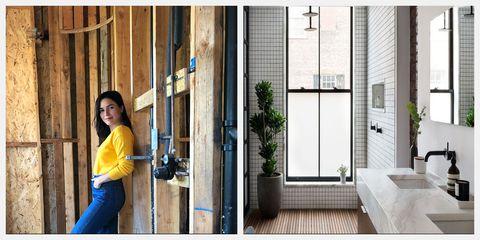 Door, Yellow, Snapshot, Home door, Home, House, Architecture, Window, Room, Material property,