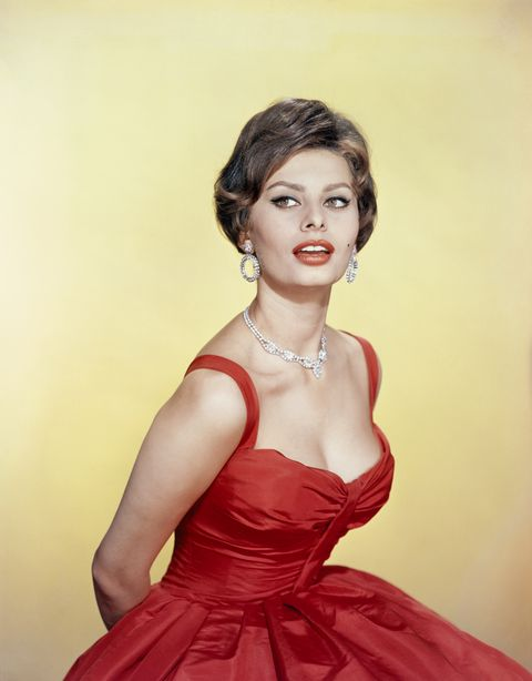 sophia loren in red gown