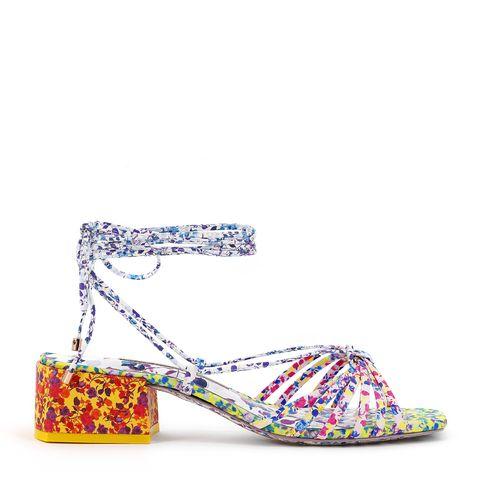 Footwear, Shoe, Sandal, High heels, Slingback, Fashion accessory, Wedge,