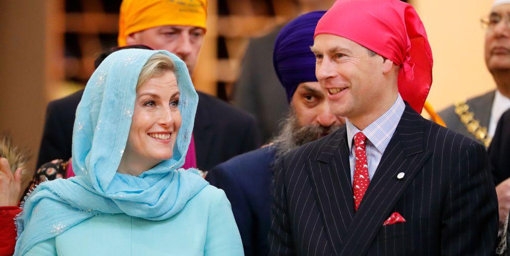 The Earl & Countess of Wessex Visit The Sri Guru Singh Sabha Southall Gurdwara