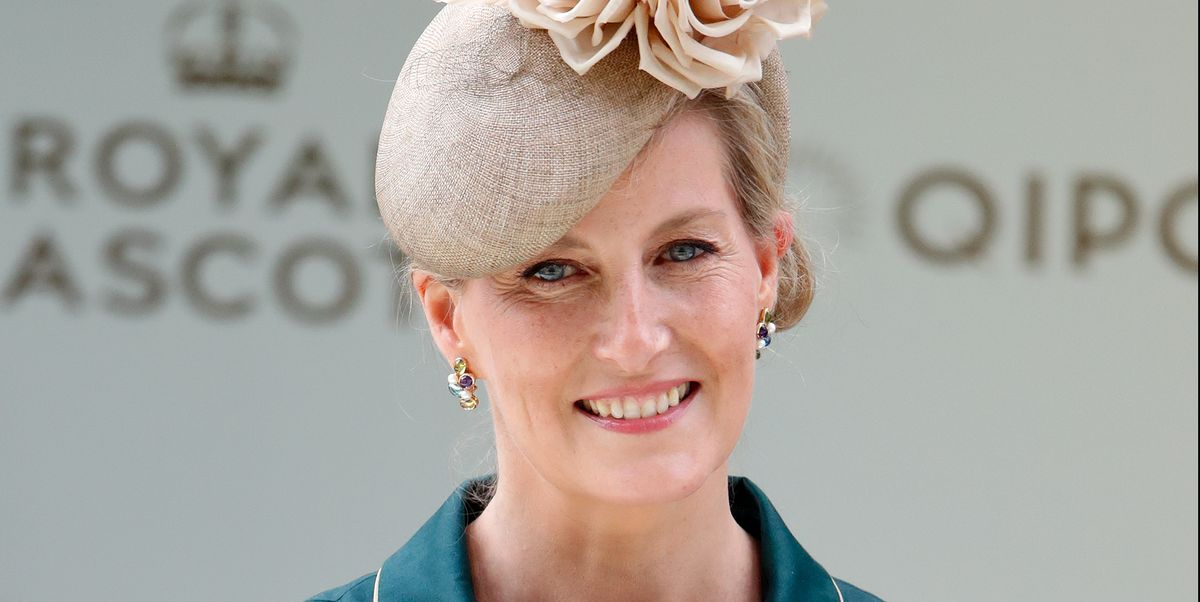 The Countess of Wessex celebrates at Ascot in stunning hat she wore to the royal wedding in 2011