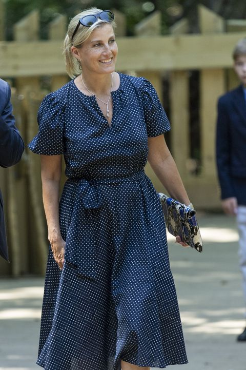 sophie countess of wessex polka dot The Earl & Countess Of Wessex Visit The Wild Place Project At Bristol Zoo