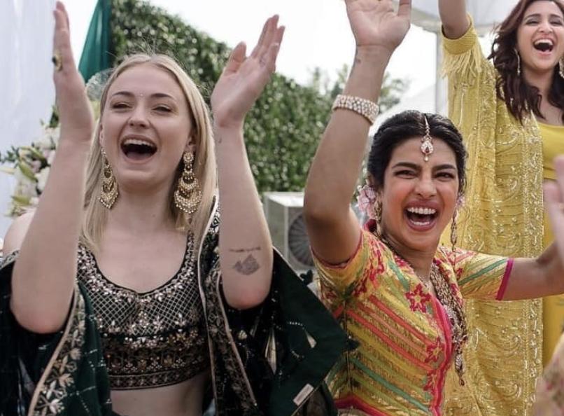 Sophie Turner Attends Priyanka Chopra Nick Jonas Wedding Wearing