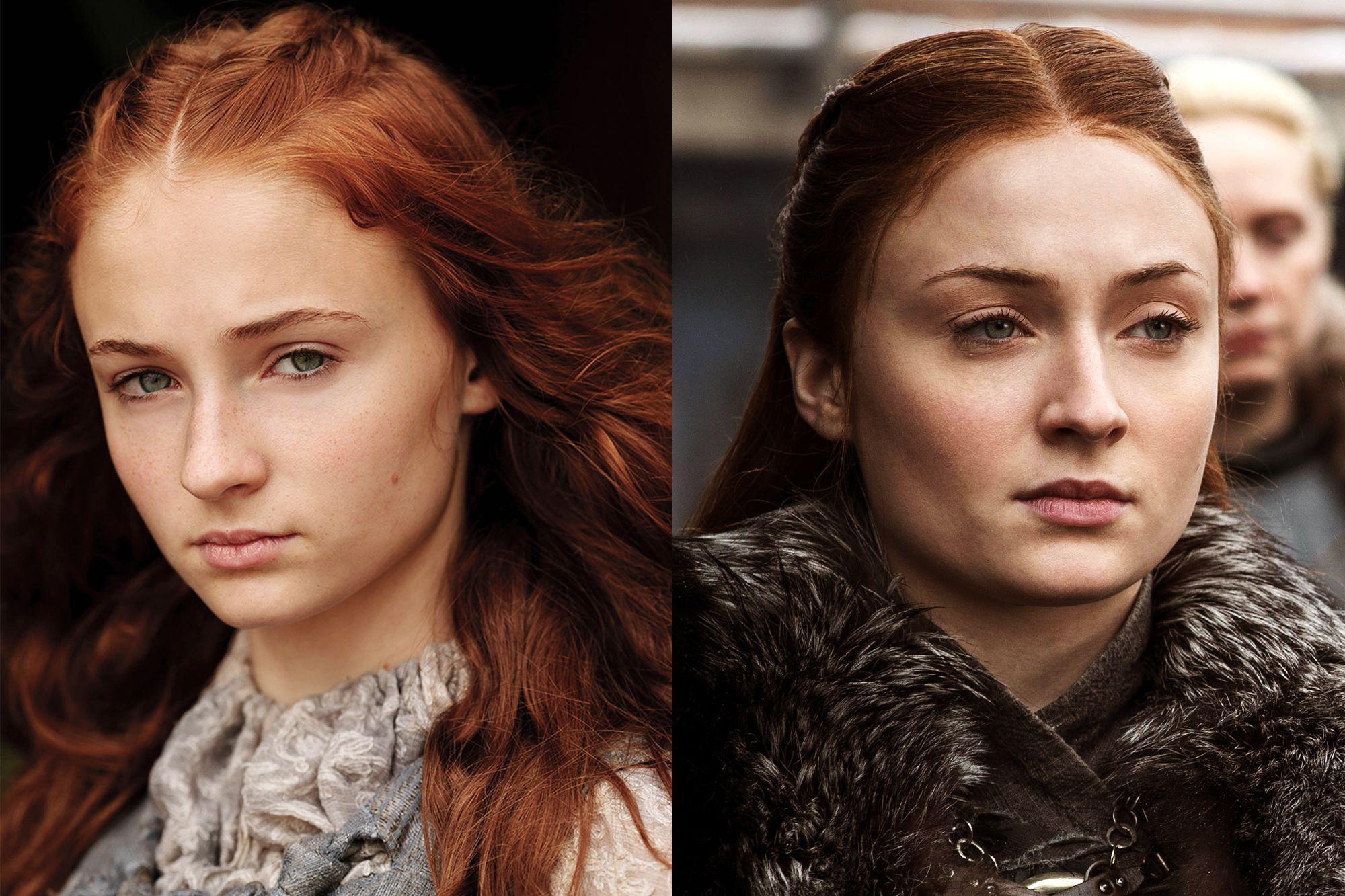 Sophie Turner as Sansa Stark Season One to Season Eight.