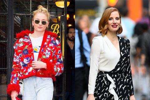 Street fashion, Clothing, White, Red, Fashion, Blazer, Eyewear, Outerwear, Jacket, Sunglasses,