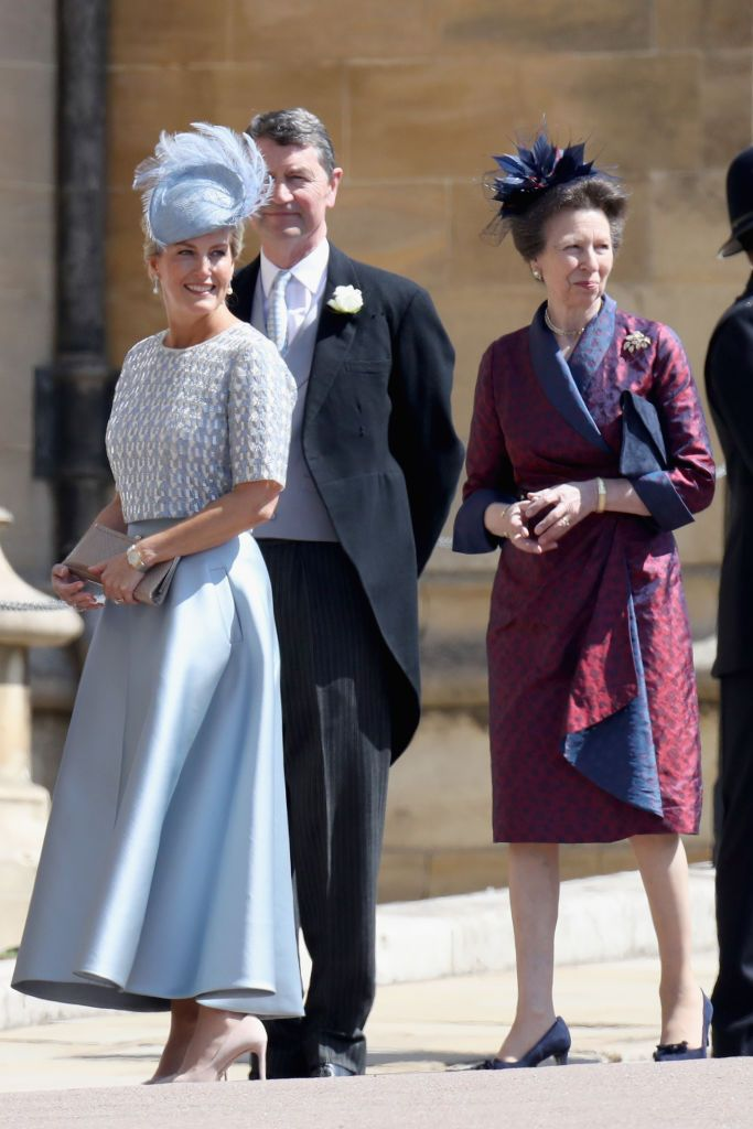 Sophie, Countess of Wessex, arrives with Princess Anne.
