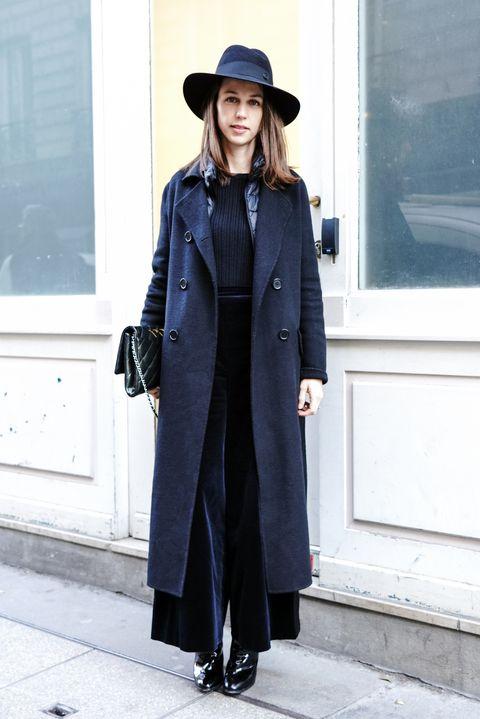 Clothing, Street fashion, Coat, Trench coat, Fashion, Fedora, Hat, Overcoat, Outerwear, Headgear,