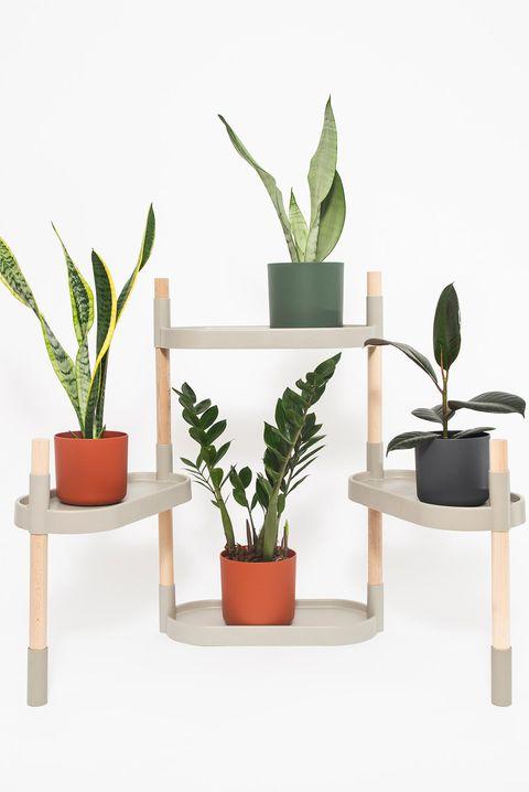 estantería modular para plantas