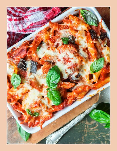 Dish, Food, Cuisine, Ingredient, Comfort food, Rigatoni, Italian food, Baked ziti, Casserole, Produce,