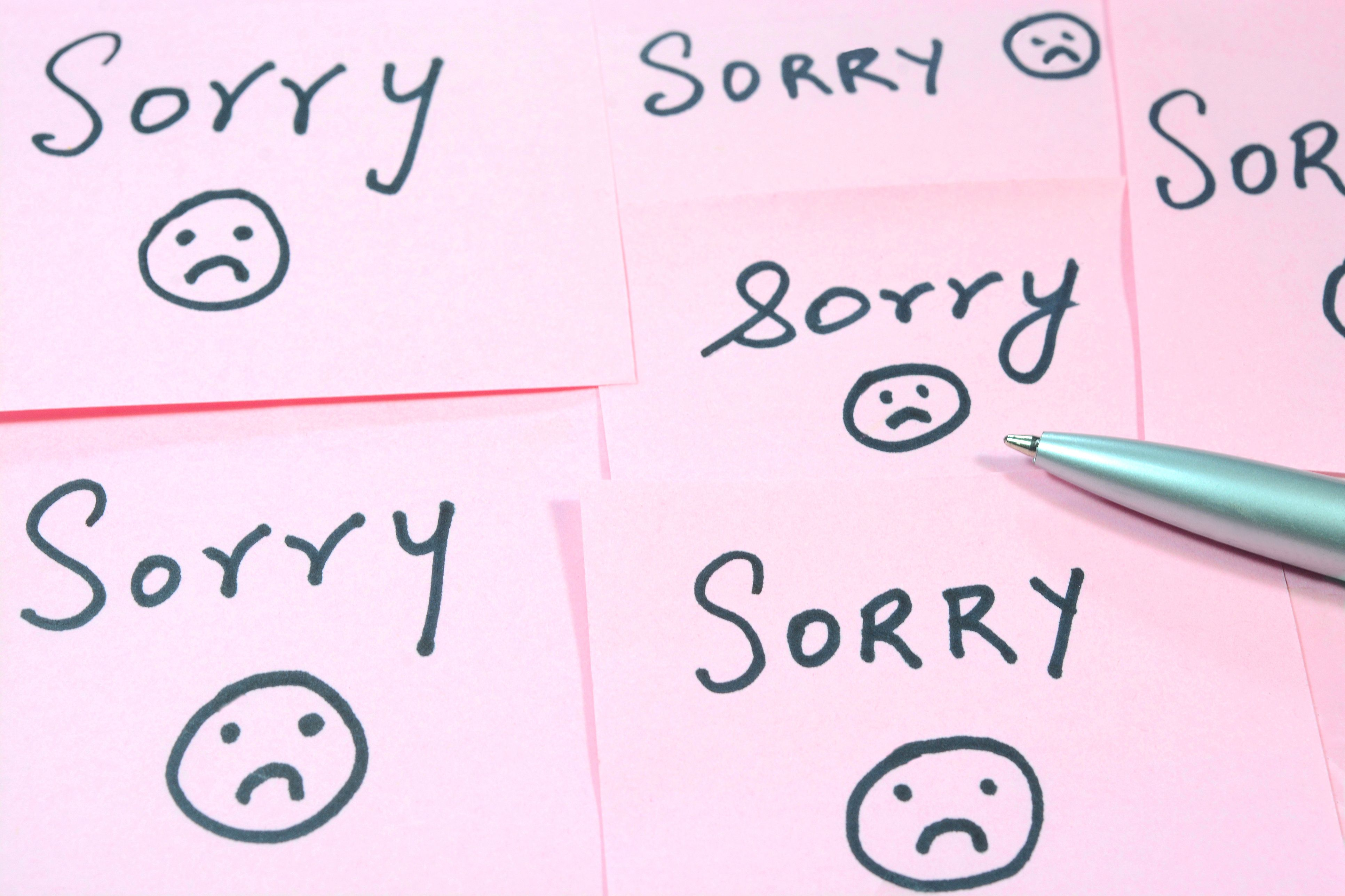 Creative ways to say sorry