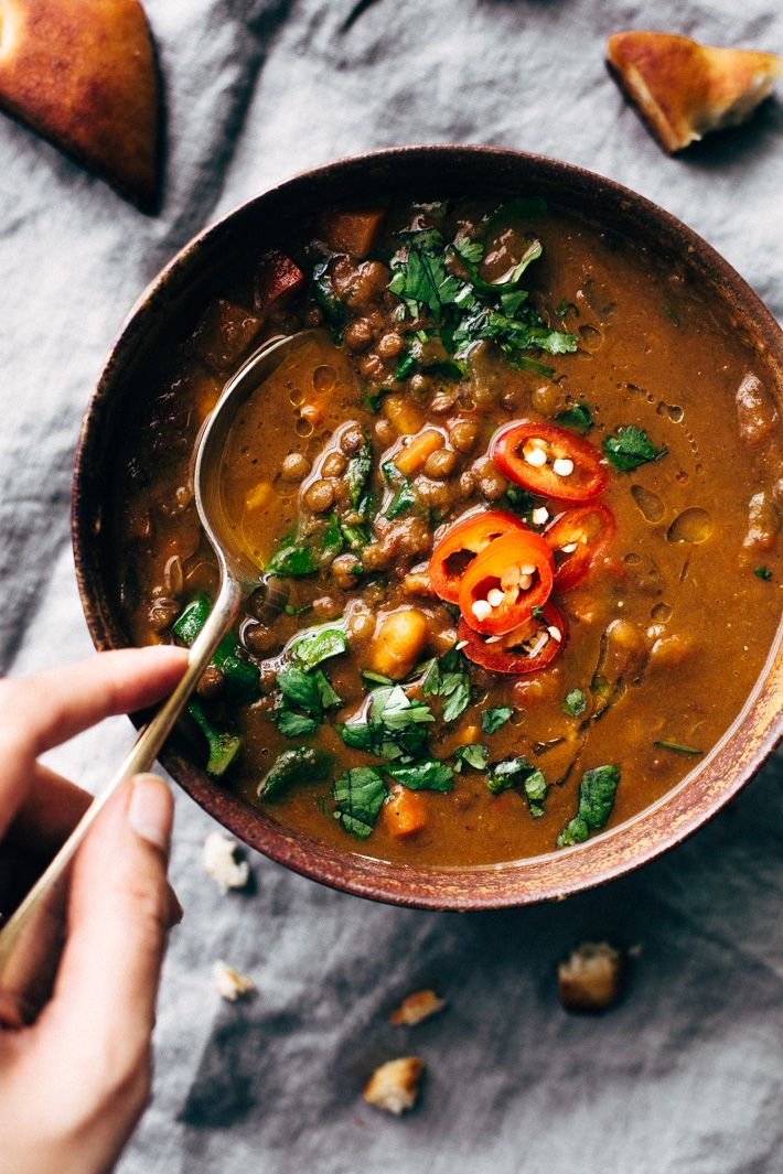 Detox Moroccan Sweet Potato and Lentil Soup