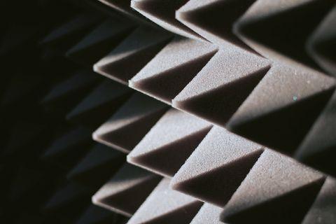 soundproof panel of polyurethane foam
