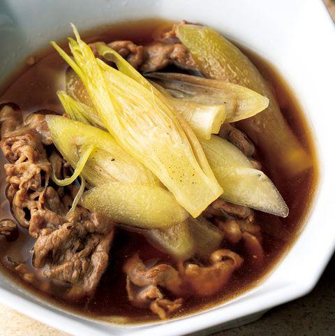 夏を乗り切る養生スープ みょうがと豚肉のスープ