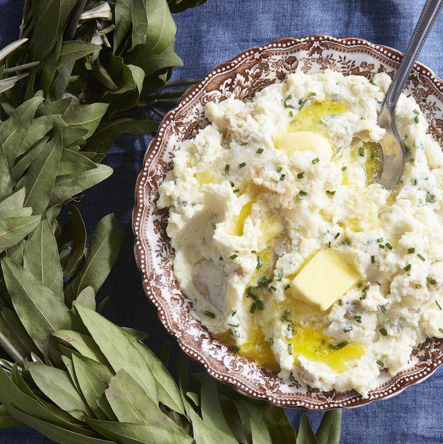 horseradish–sour cream mashed potatoes