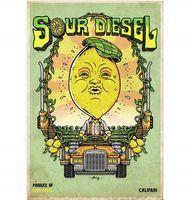 Marijuana strain poster Sour Diesel from Califari