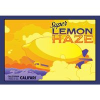 Marijuana strain poster Super Lemon Haze from Califari