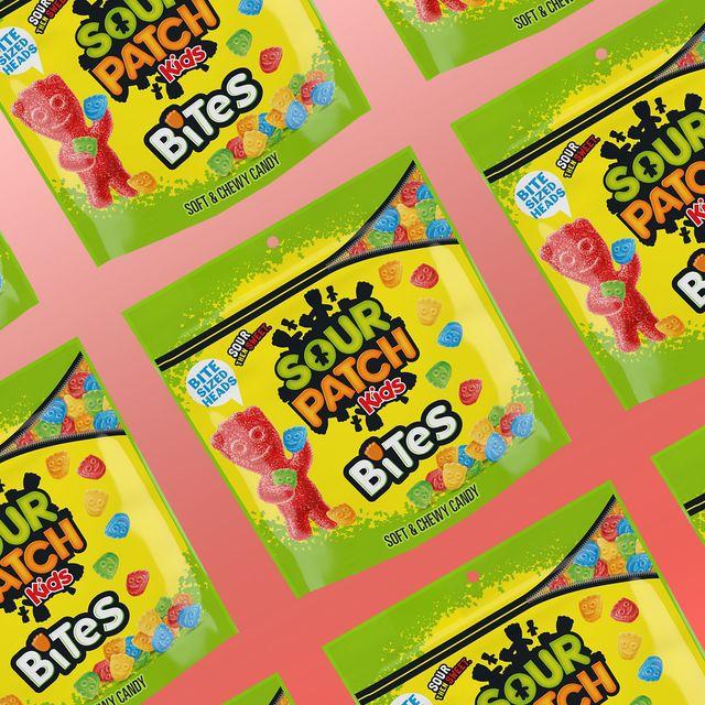 sour patch kids bites candy bag