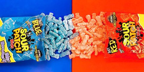 sour patch kids red blue packs