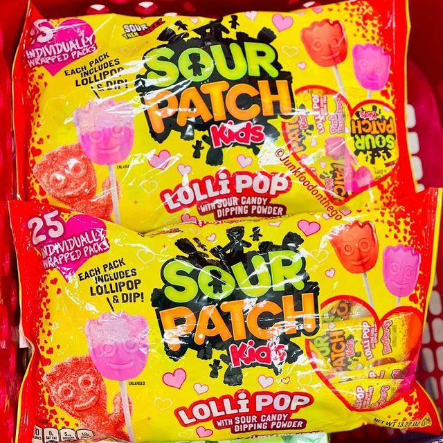 sour patch kids lollopops