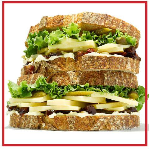 Finger food, Food, Cuisine, Sandwich, Ingredient, Leaf vegetable, Dish, Produce, Baked goods, Vegetable,