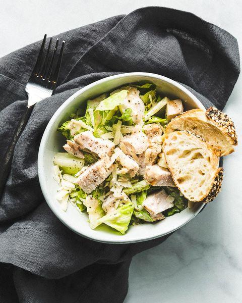 sous vide chicken caesar salad
