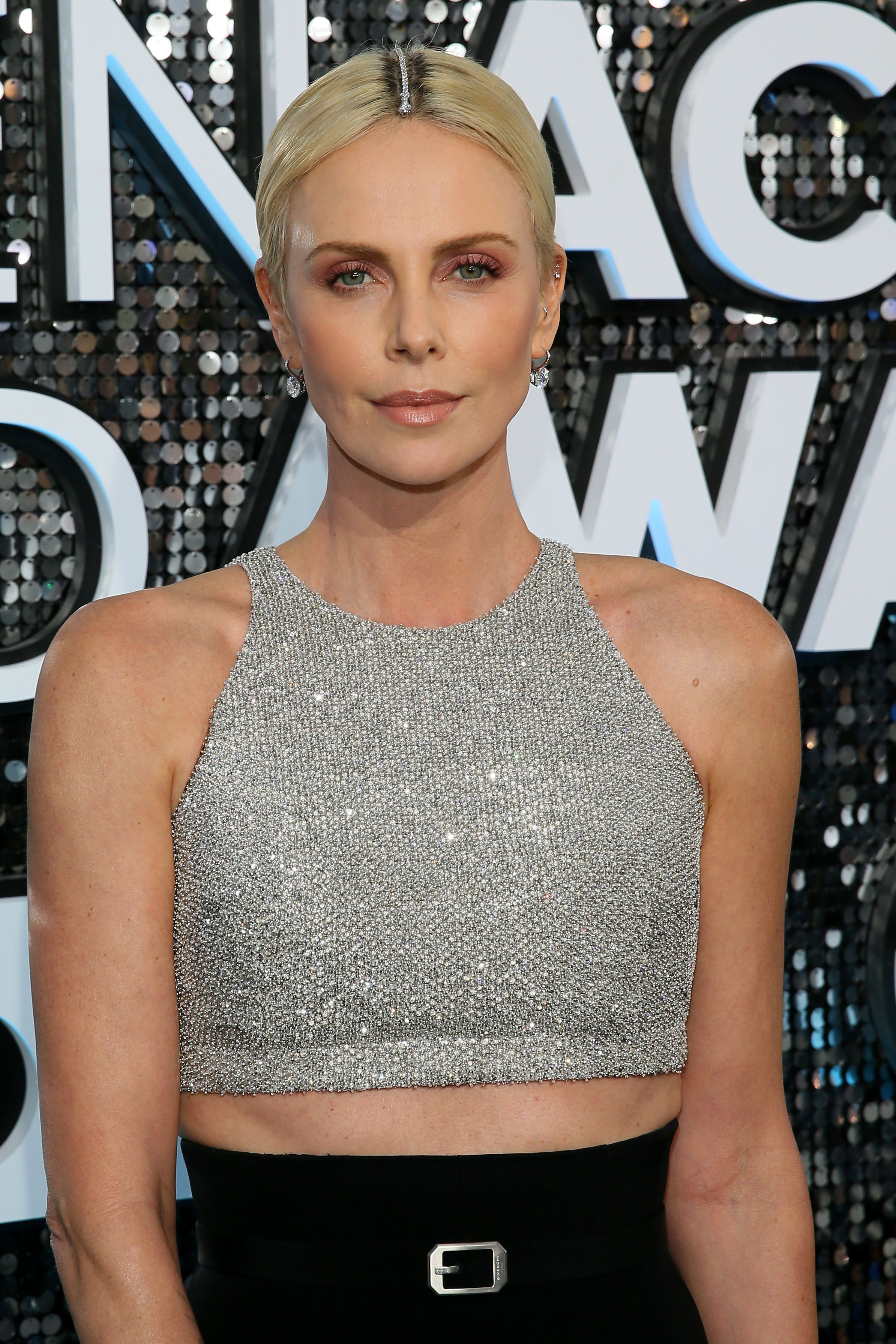 Charlize Theron wore Tiffany diamonds in her hair to hide her roots