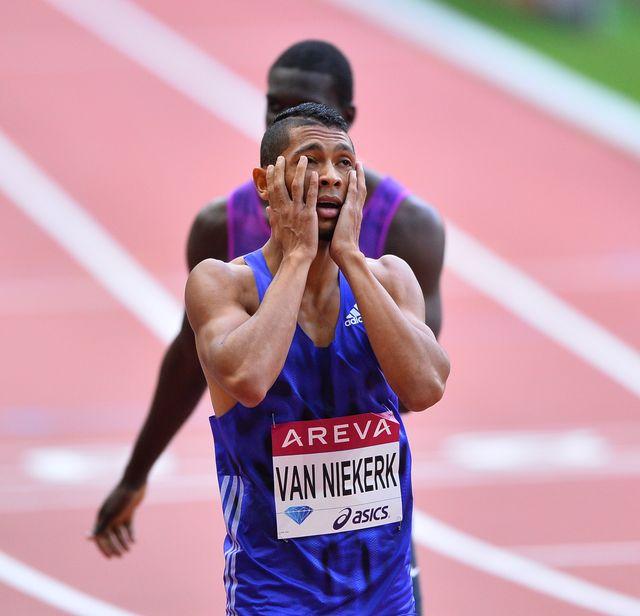 el sudafricano wayne van niekerk, plusmarquista mundial y campeón olímpico de 400 metros, en la iaaf diamond league 2015
