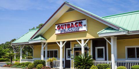 South Carolina, Myrtle Beach, Outback Steakhouse, empty parking lot