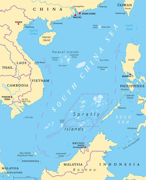 south china sea on a world map South China Sea China S New Weaponry What You Need To Know