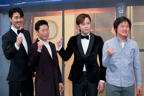 """tvn """"3 meals a day"""" press conference in seoul"""