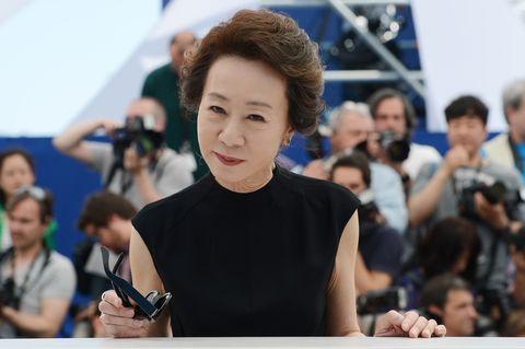south korean actress youn yuh jung poses