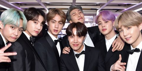 south korean boy band bts backstage during the 61st annual news photo 1097661412