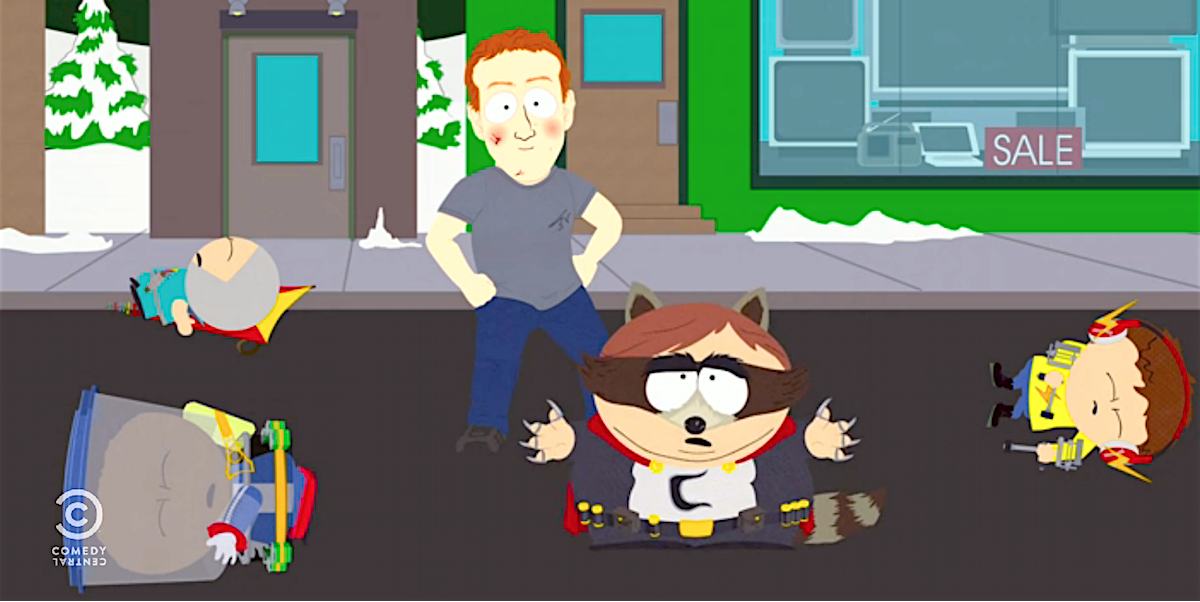 Image result for south park season 21 zuckerberg