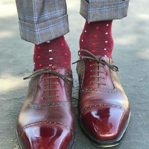 Footwear, Shoe, Red, Pink, Brown, Maroon, Ankle, Fashion, Tartan, Boot,